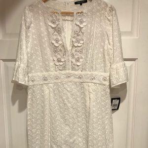 Nanette Lenore white eyelet dress Aztec NWT